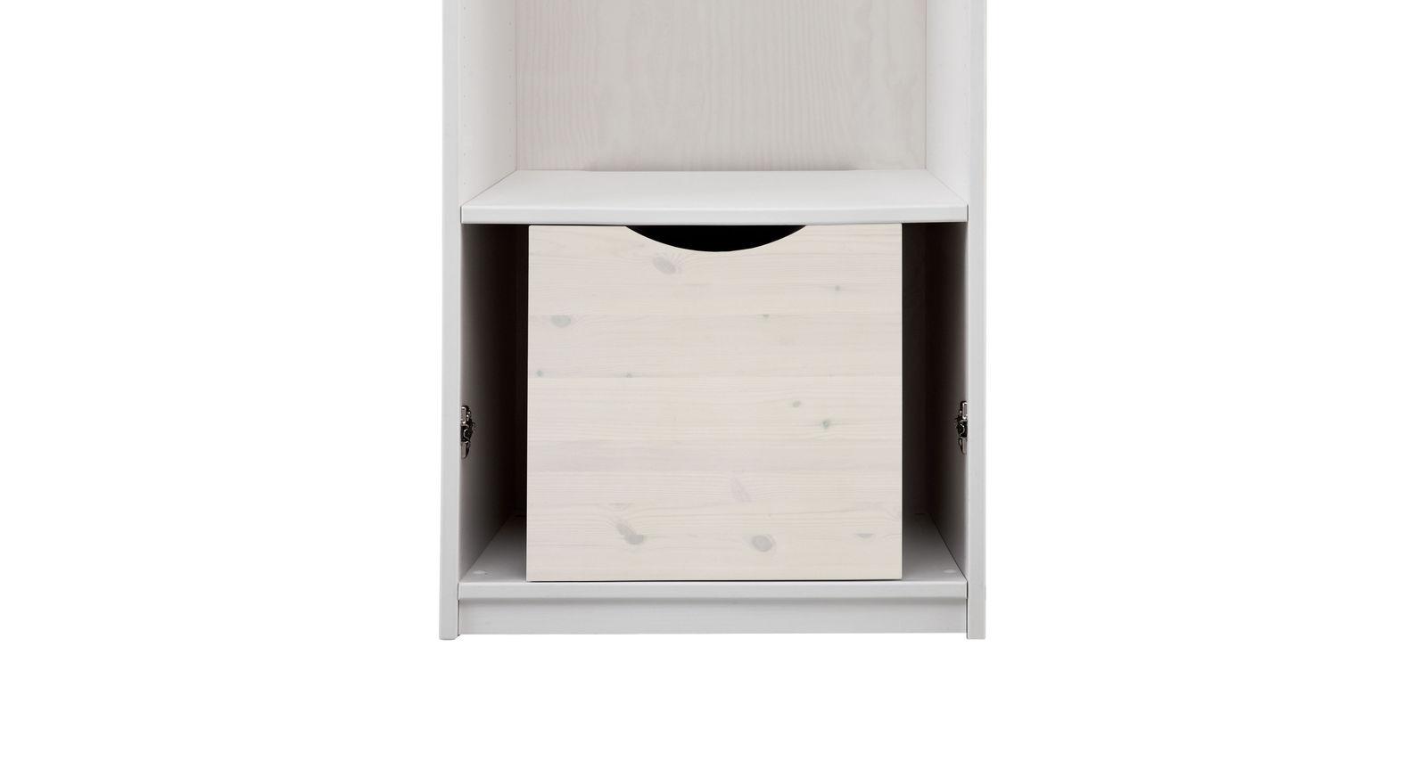 LIFETIME Kleiderschrank-Innenausstattung Schublade in 50er Breite in Weiß lasiert