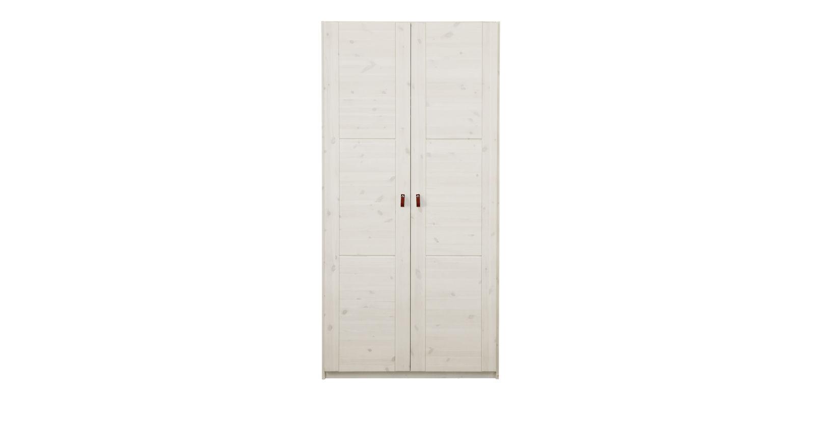 LIFETIME Drehtüren-Kleiderschrank Monina in Weiß lasiert