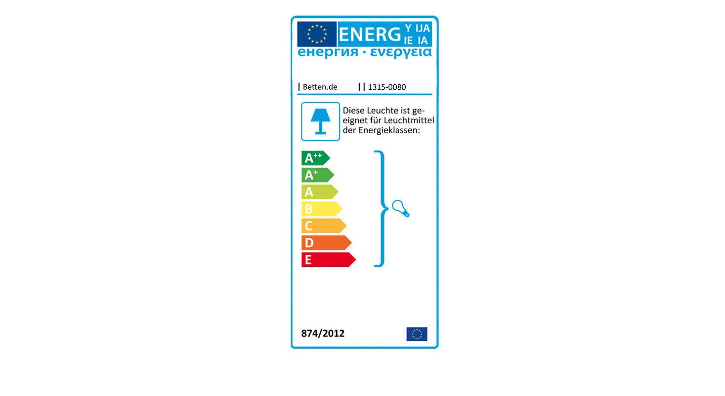 Energielabel zur LIFETIME Klemmlampe