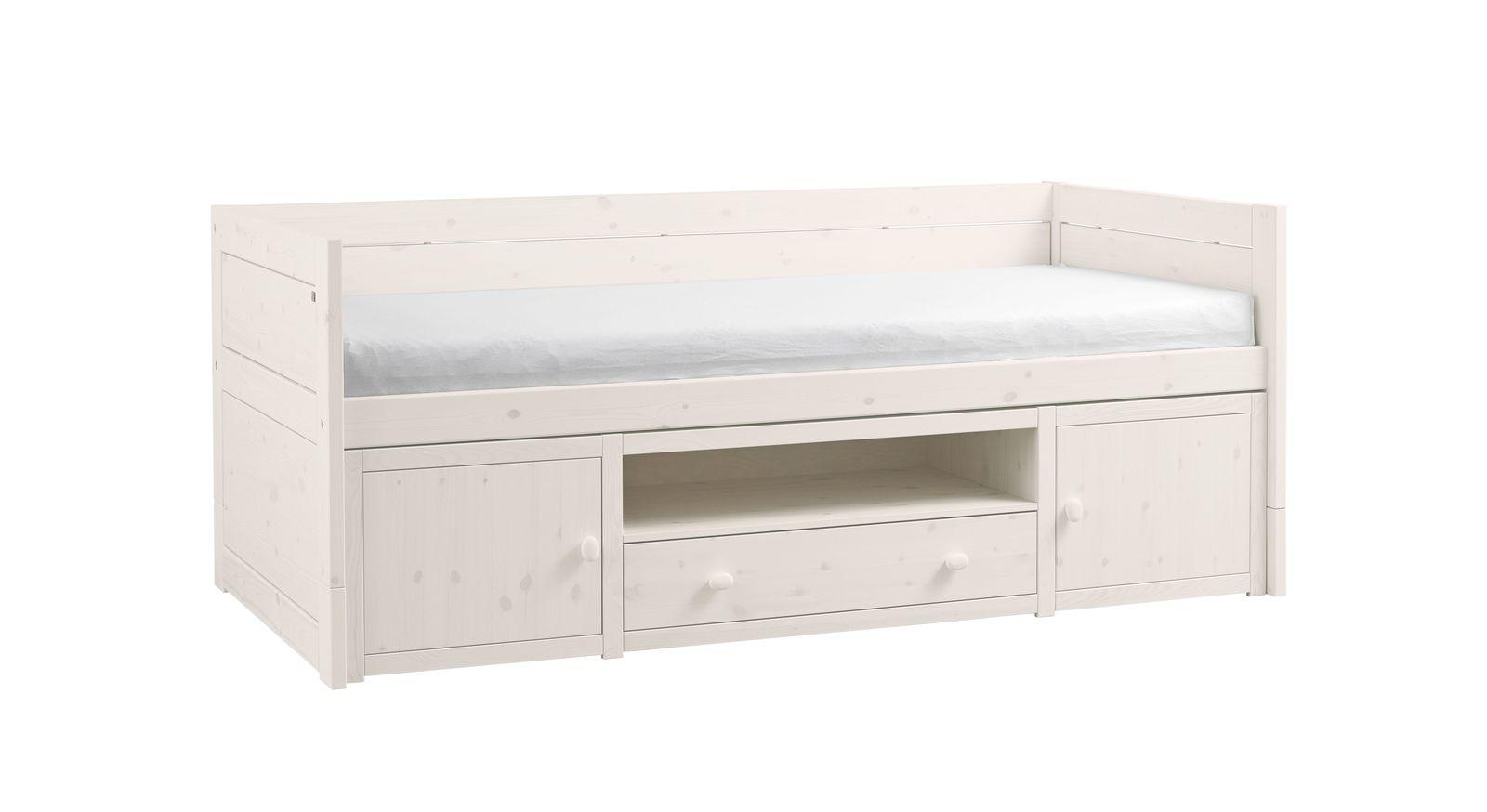 jugendbett mit gstebett und stauraum optional mit bettkasten stauraum polsterbett traumhaftes. Black Bedroom Furniture Sets. Home Design Ideas