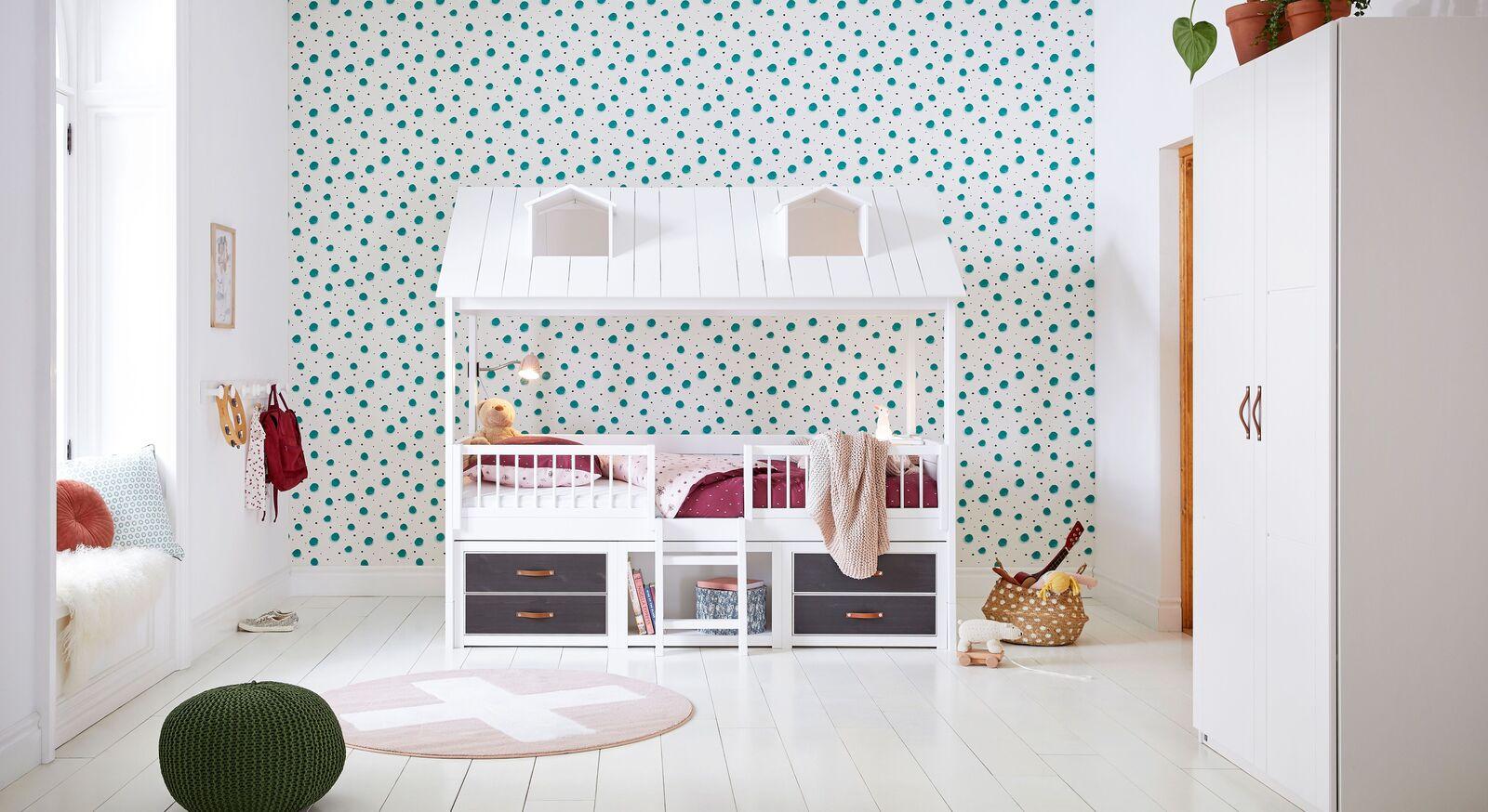 LIFETIME Kojenbett Beachhouse mit passenden Kinderzimmer-Accessoires