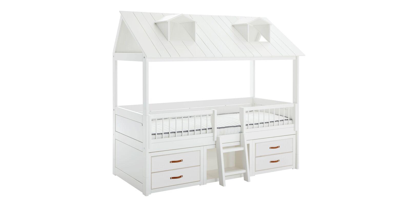 LIFETIME Kojenbett Beachhouse mit weiß lackierten Schubladen