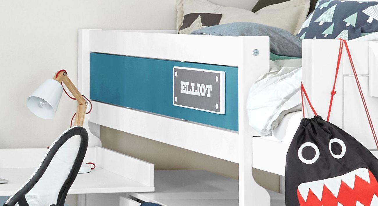 LIFETIME Midi-Hochbett Color optional mit farbiger Frontfüllung