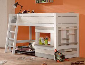 Kinderzimmer komplett mit camping flair lifetime holzh tte for Kinderzimmer mit hochbett komplett