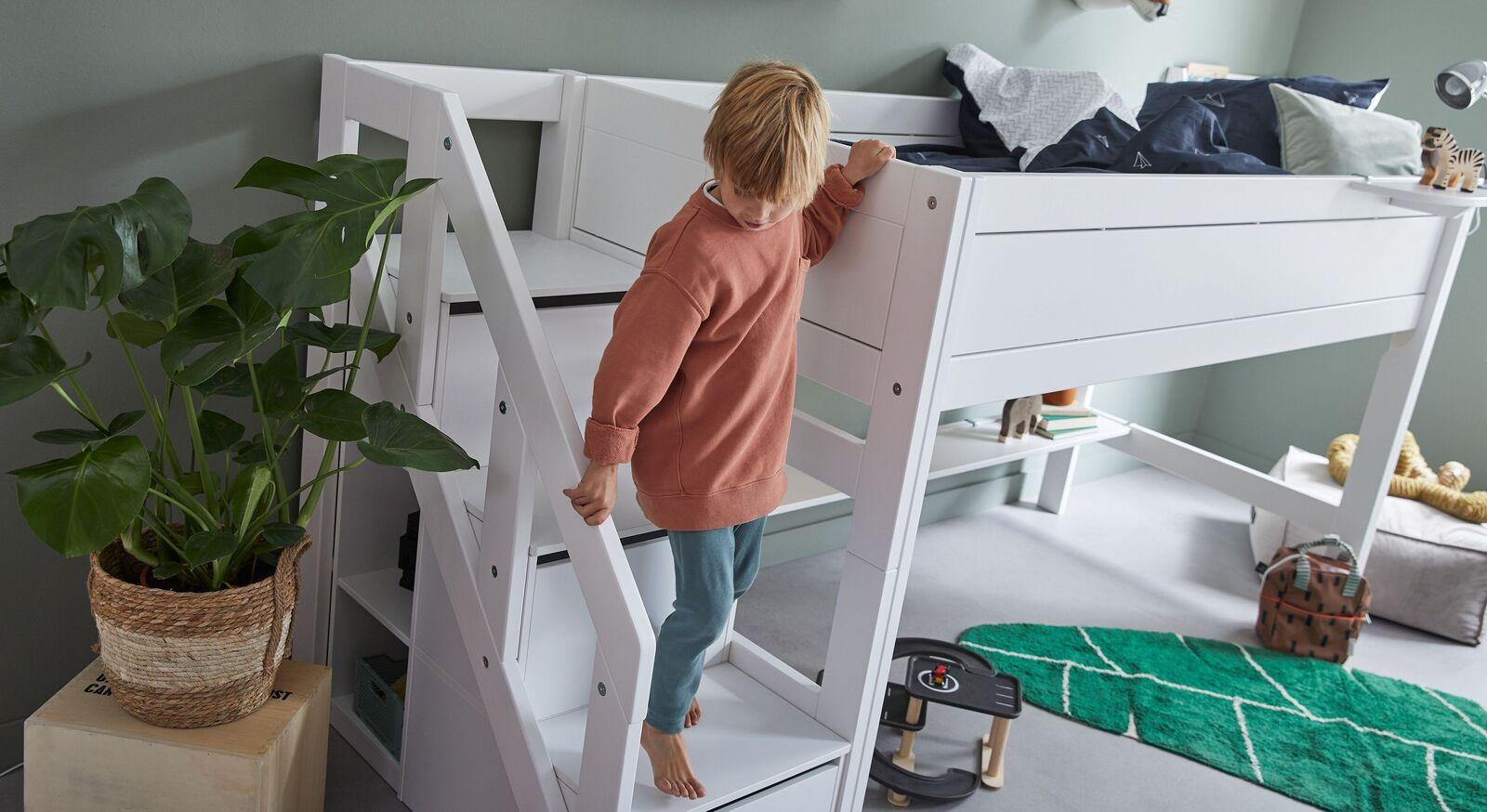 LIFETIME Mini-Hochbett Original mit sicherem Treppenmodul