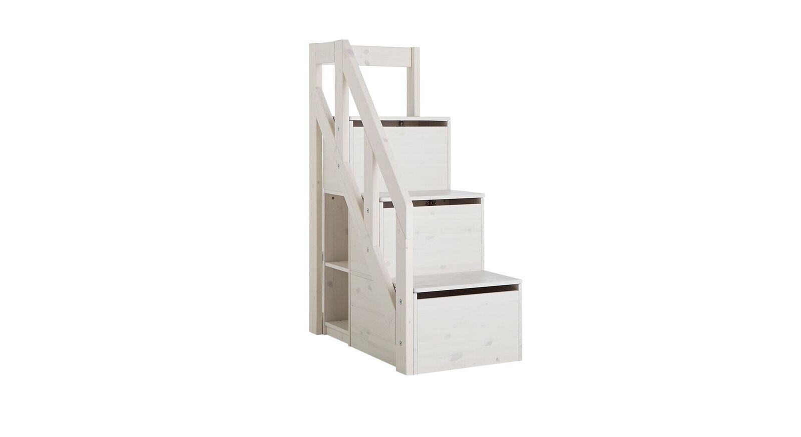 LIFETIME Midi-Hochbett Original mit Stauraumboxen im Treppenmodul