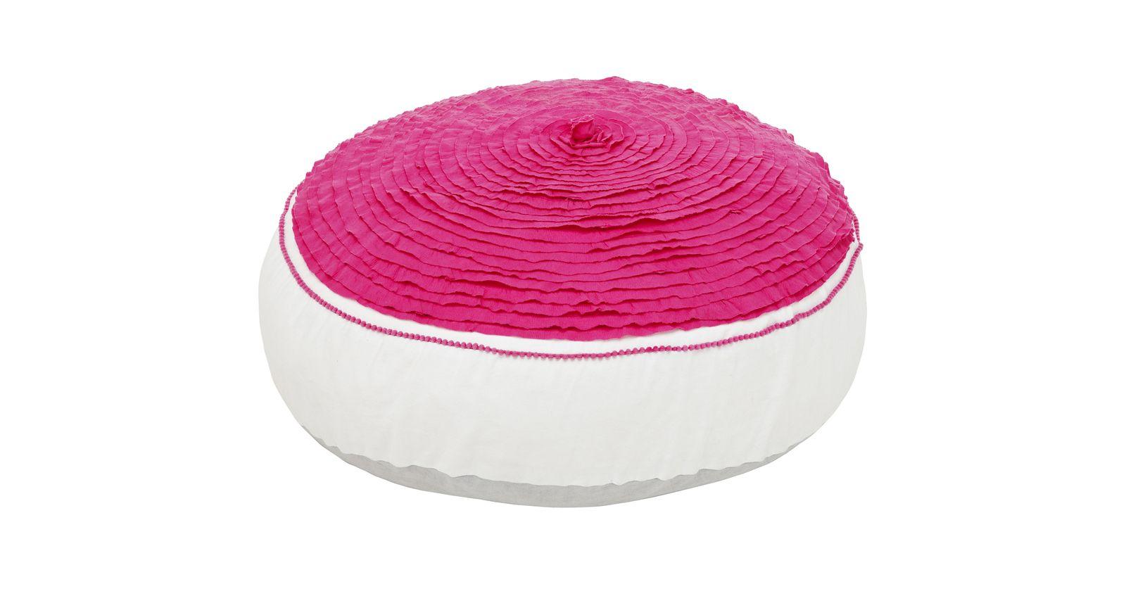 Rundes LIFETIME Sitzkissen und Sitzsäcke Pink Dream
