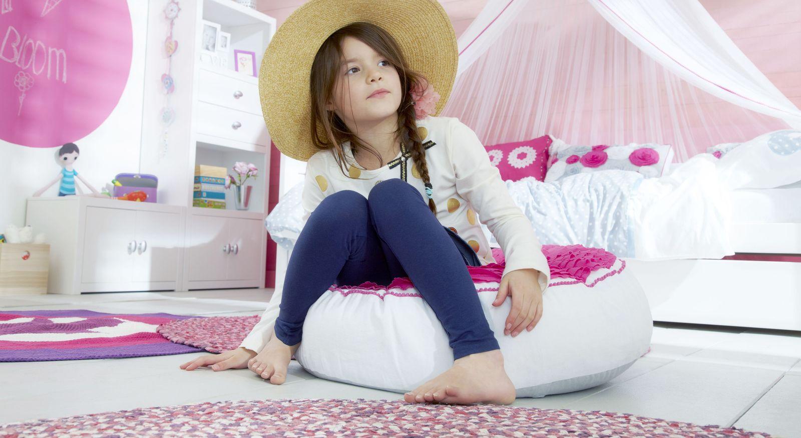 Romantisches LIFETIME Sitzkissen und Sitzsäcke Pink Dream für Mädchen-Zimmer