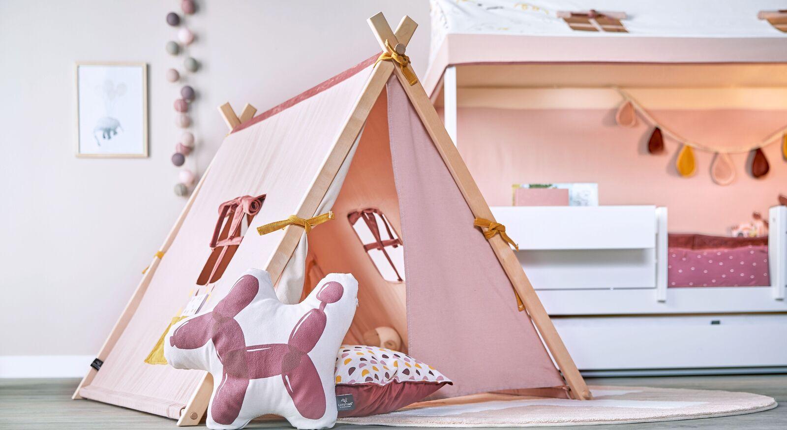 Rosefarbenes LIFETIME Spielzelt Funland für Mädchen