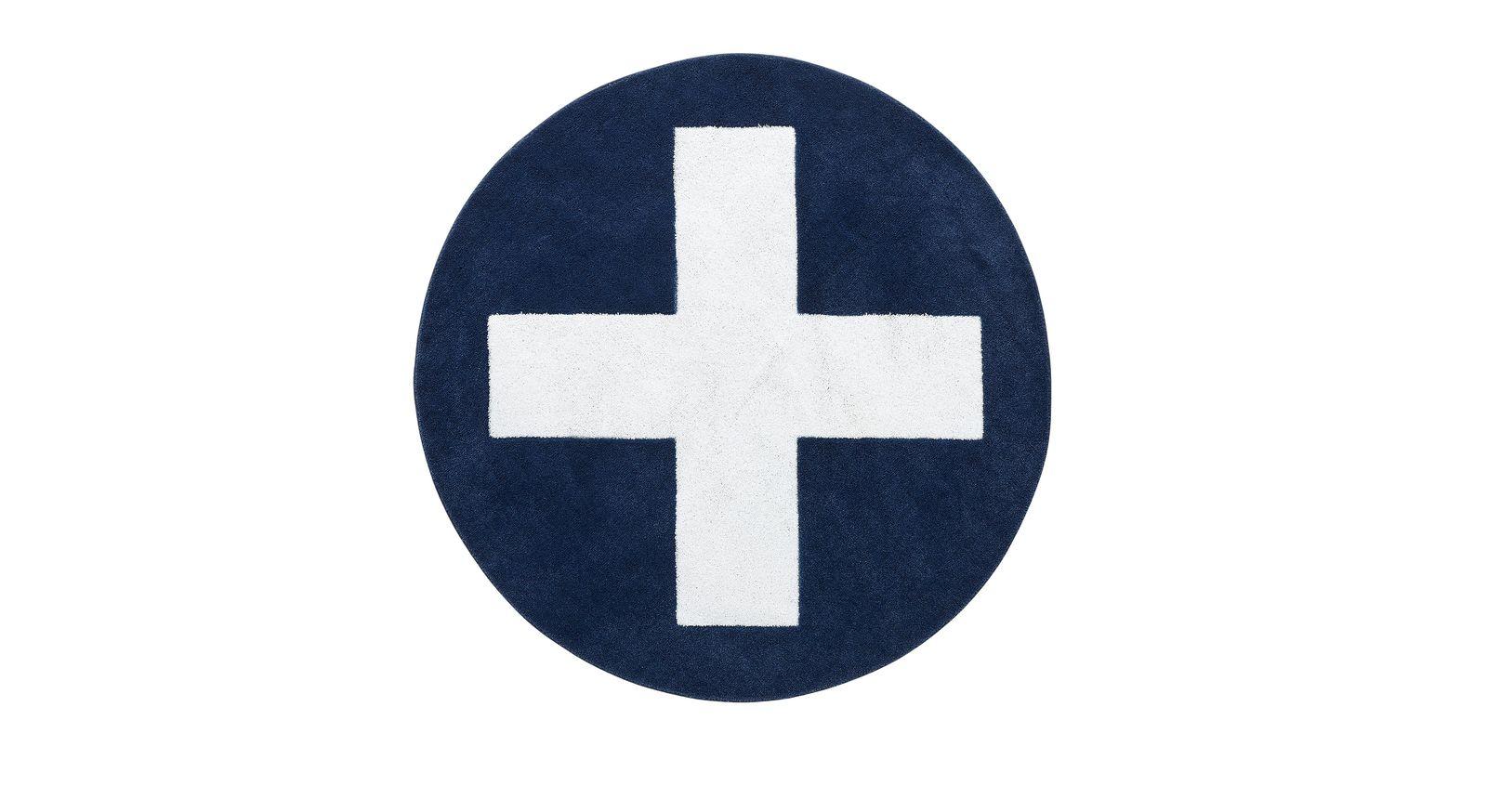 Teppich Kreuz in der Farbe Blau