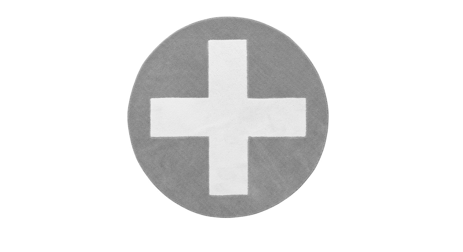 Teppich Kreuz in der Farbe Grau