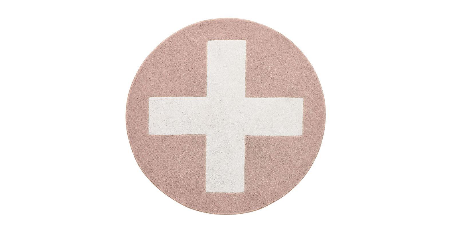 Teppich Kreuz in der Farbe Rosa
