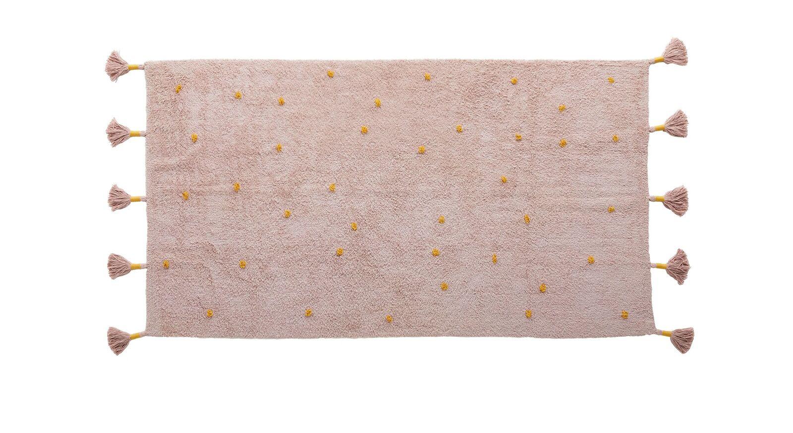Rosefarbener LIFETIME Teppich Princess Dots für Mädchen