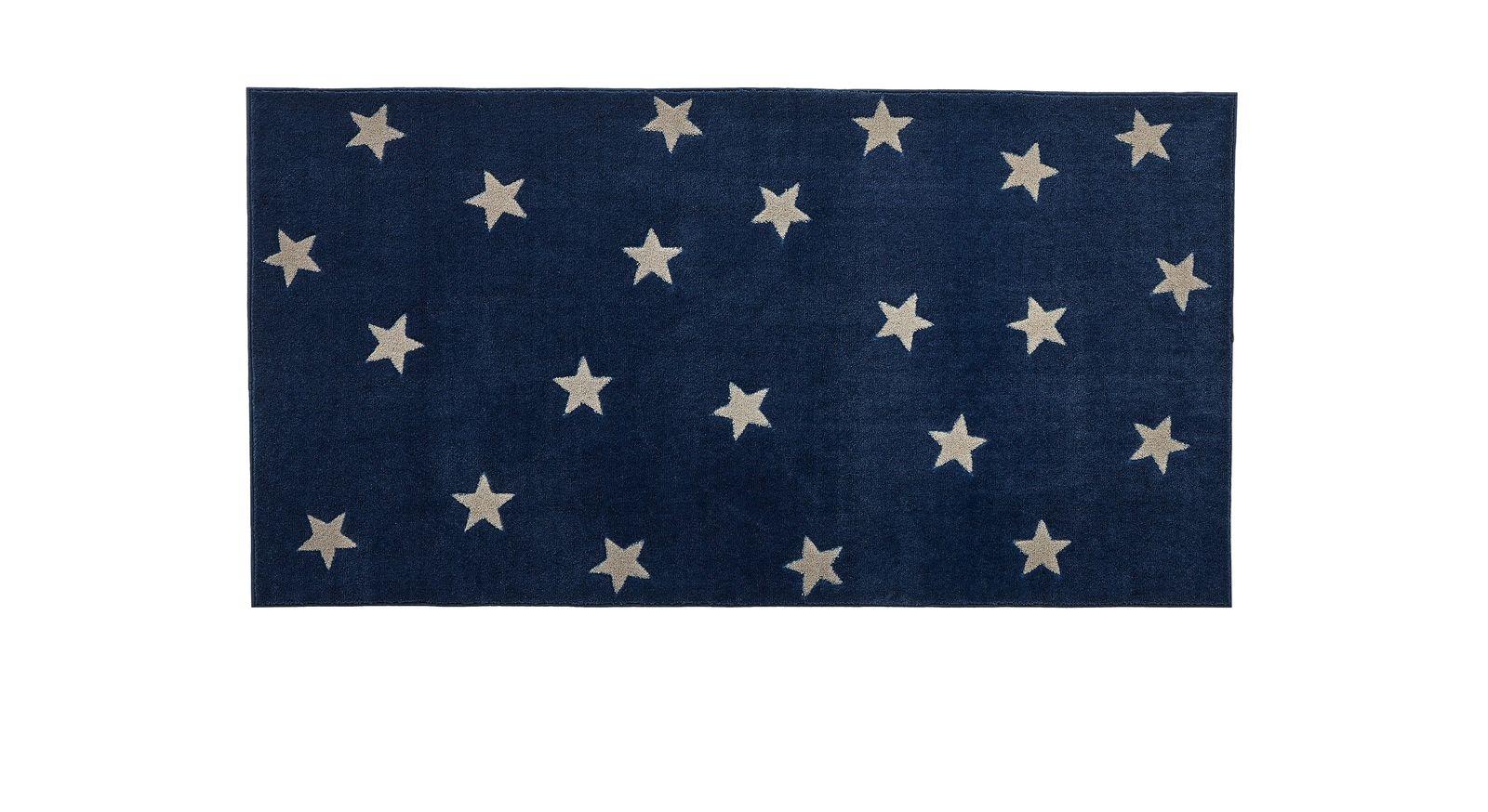 LIFEETIME Teppich Sterne in der Farbe blau