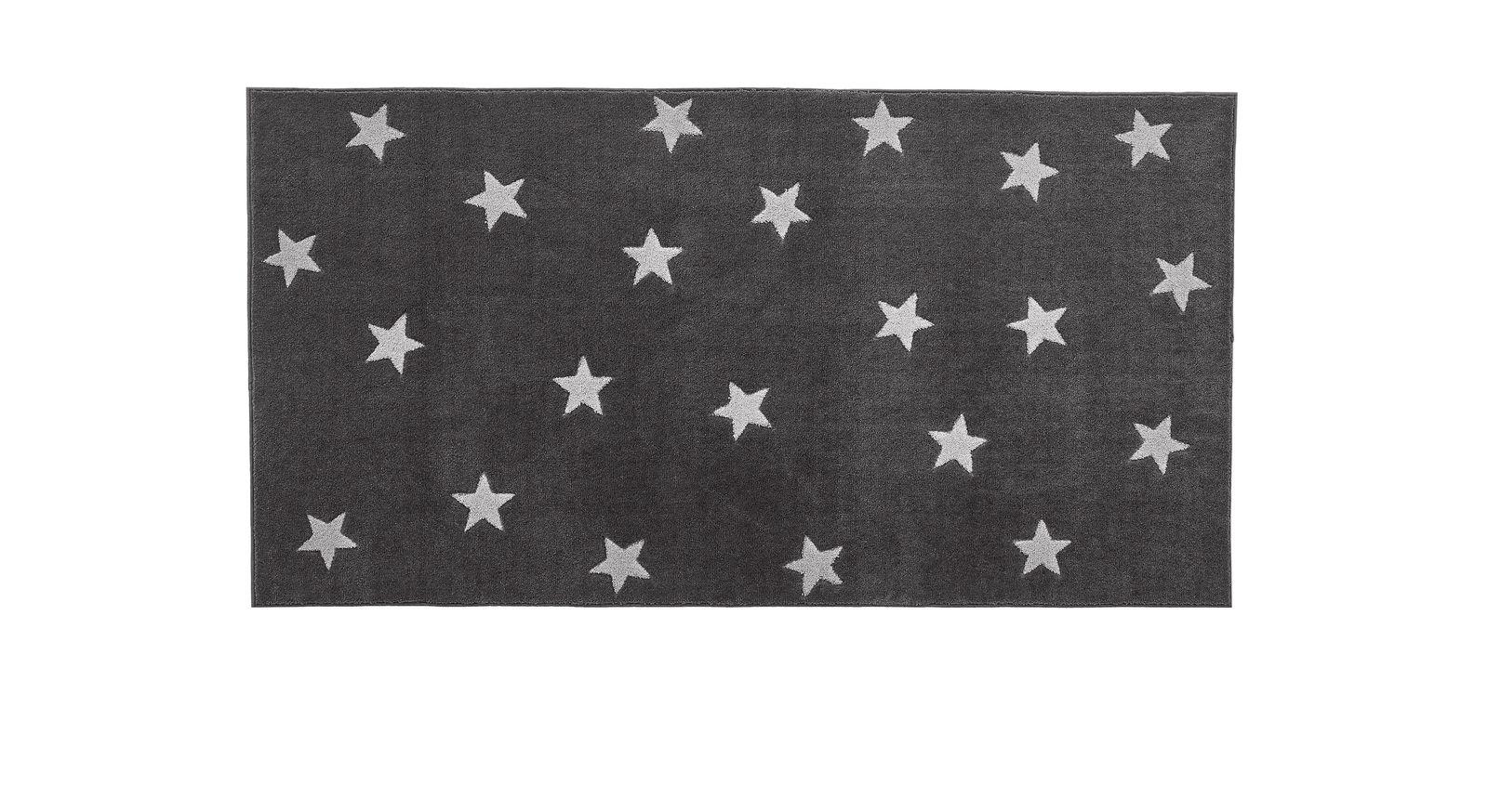LIFEETIME Teppich Sterne in der Farbe grau