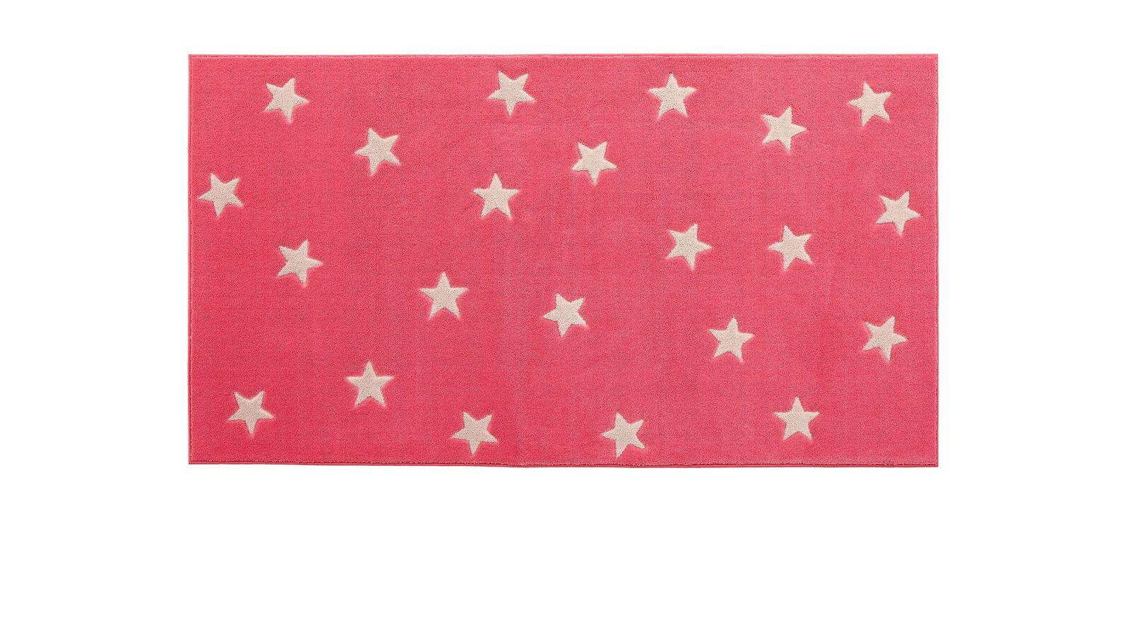 LIFEETIME Teppich Sterne in der Farbe pink