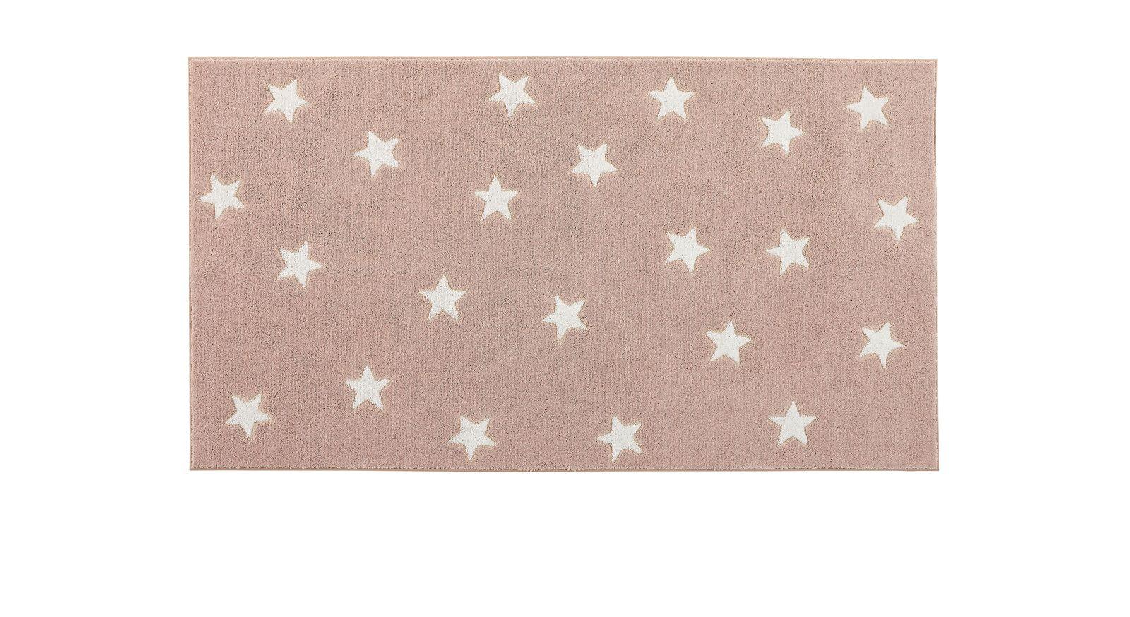 LIFEETIME Teppich Sterne in der Farbe rosa