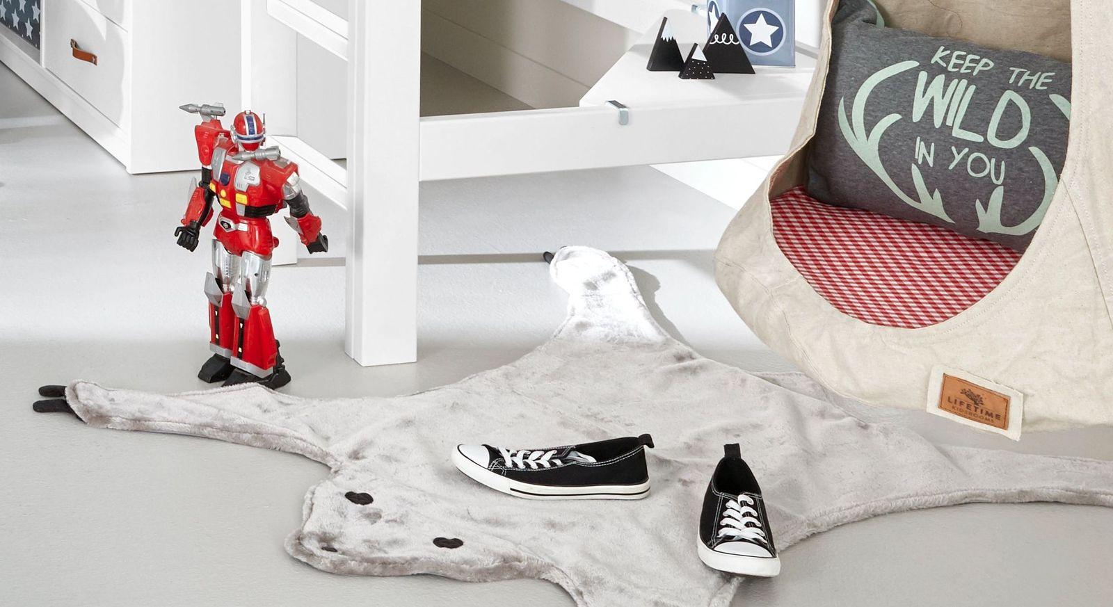 Kuscheliger LIFETIME Teppich und Verkleidung Bär für Kinderzimmer