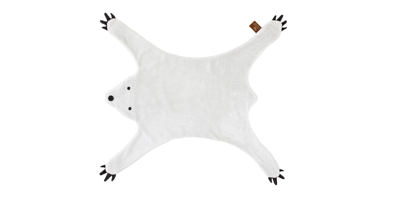 Moderner LIFETIME Teppich und Verkleidung Bär in Weiß für Mädchenzimmer