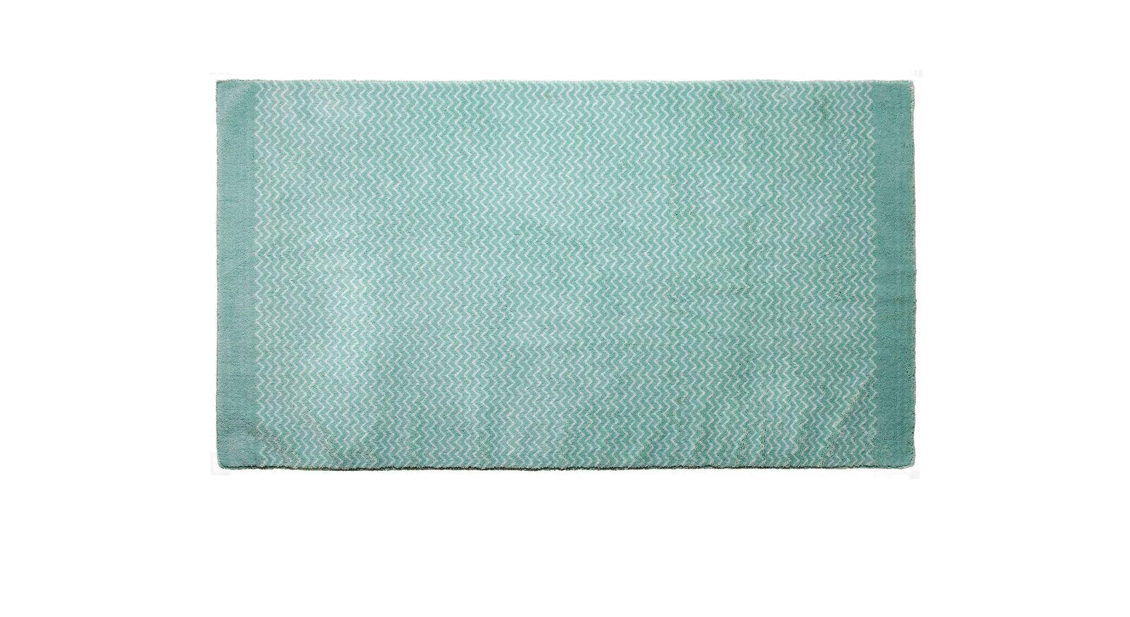 Waschbarer LIFETIME Teppich Zigzag in Blau