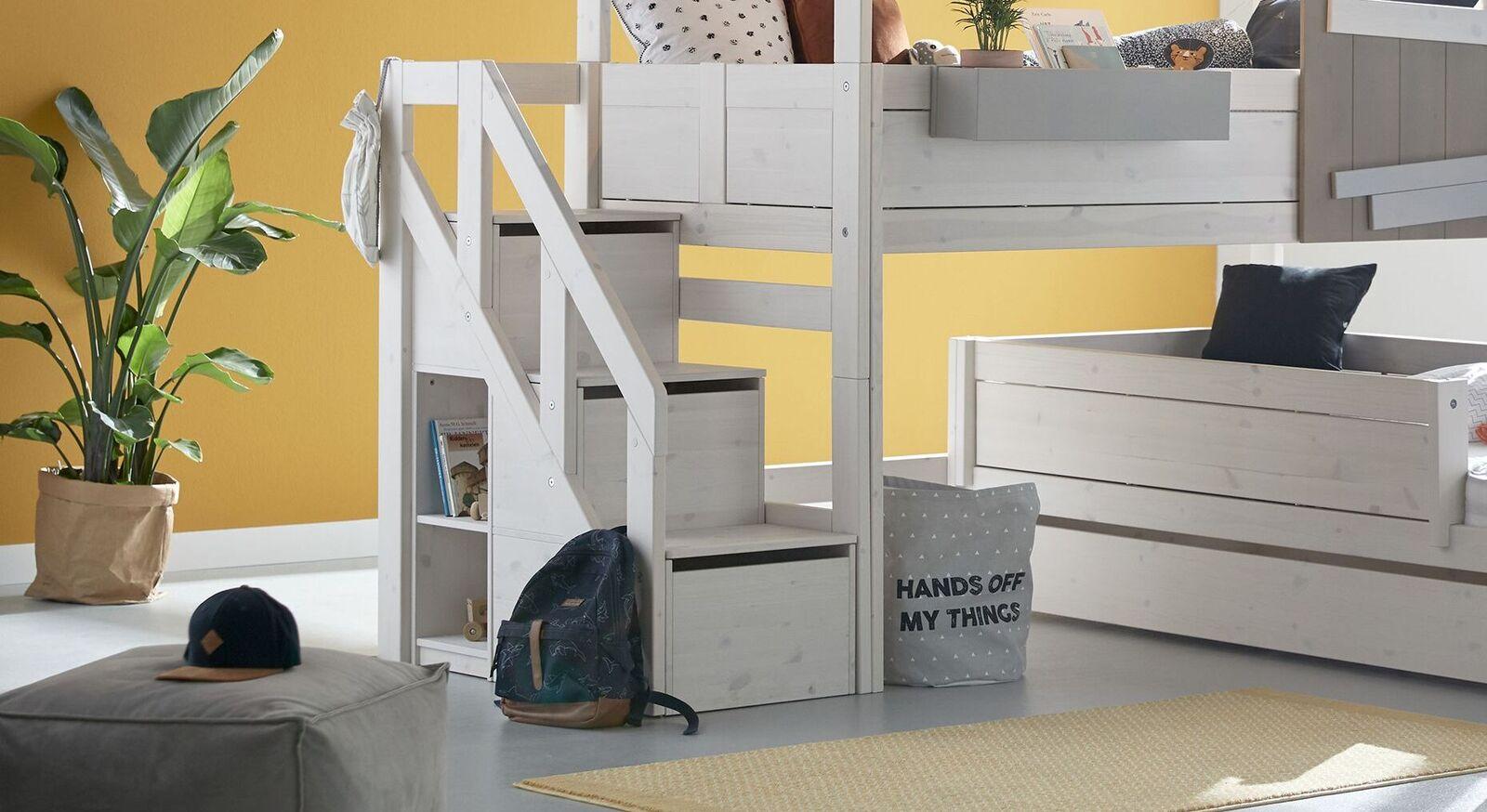 LIFETIME Treppenmodul mit Stauraum und sicherem Geländer