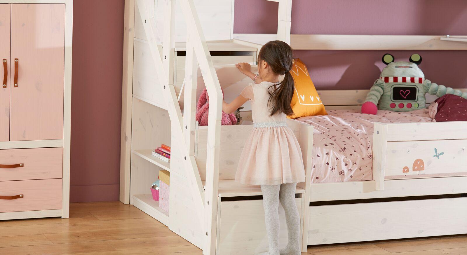 LIFETIME Treppenmodul mit Stauraum für Kinderhochbetten