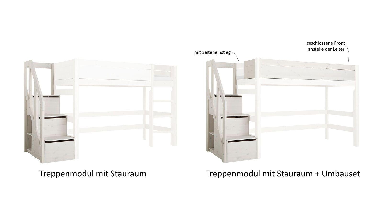 LIFETIME Treppenmodul mit Stauraum und praktischem Umbauset