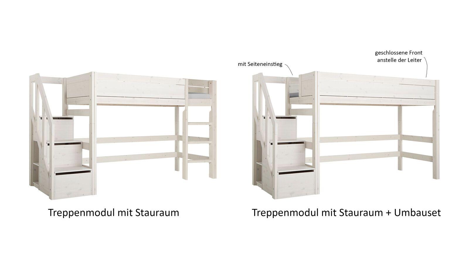 LIFETIME Treppenmodul mit Stauraum und Umbauset