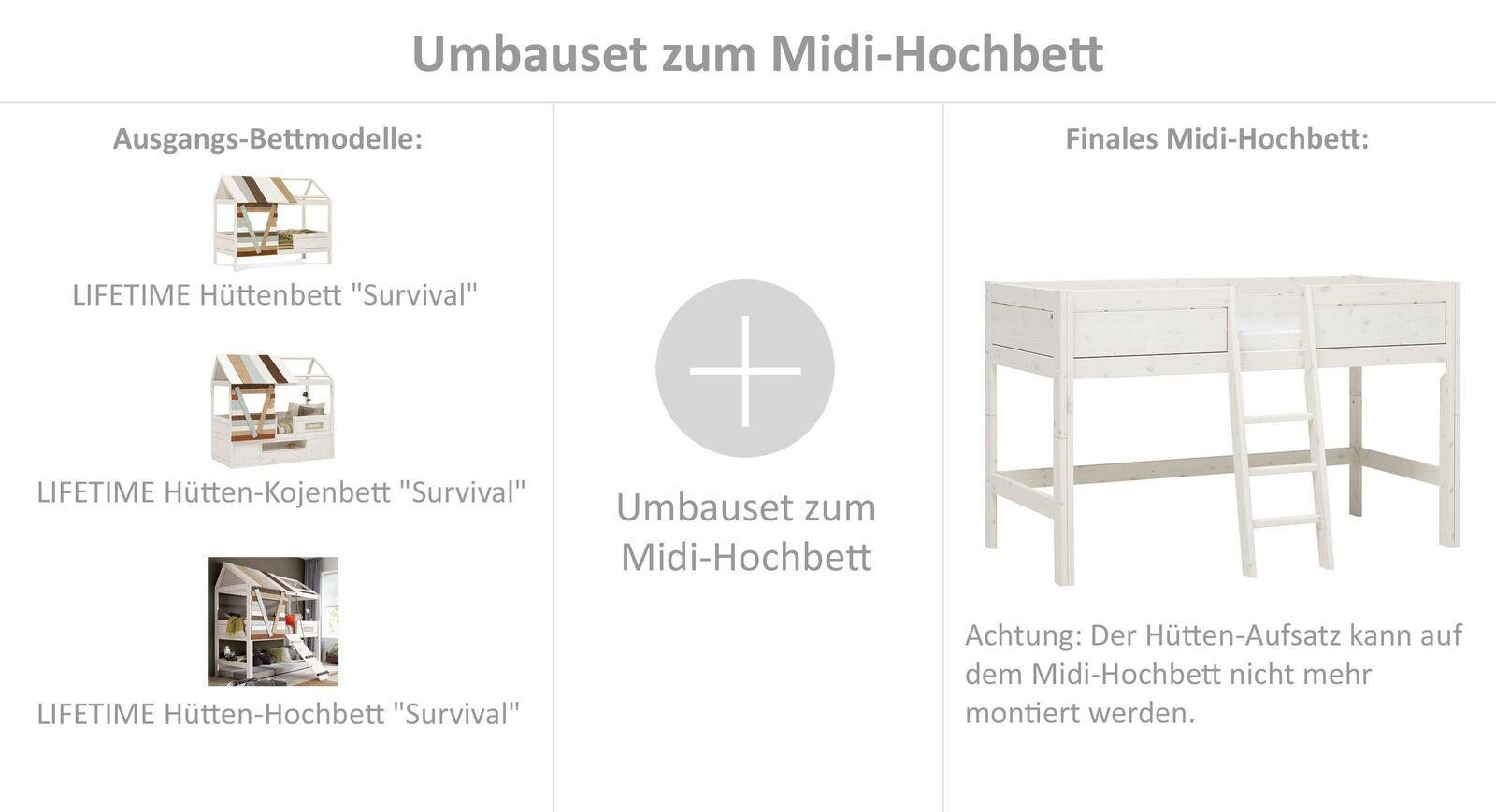 LIFETIME Umbauset zum Mini-Hochbett inklusive Leiter