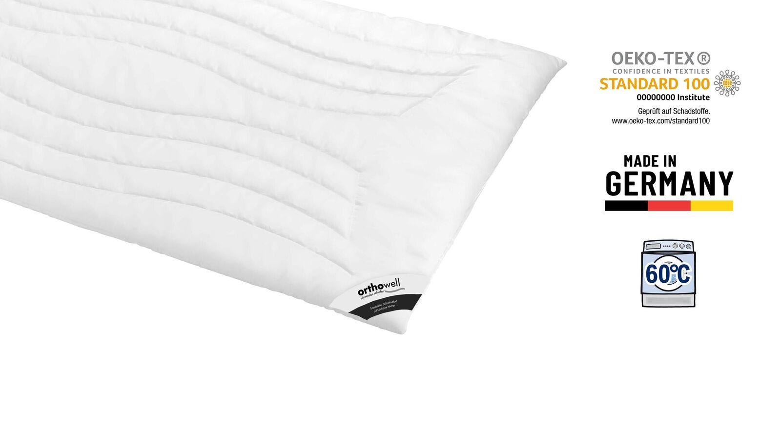 Markenfaser-Bettdecke orthowell Superior extra leicht Öko-Tex zertifiziert