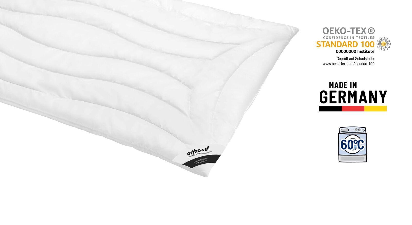 Markenfaser-Bettdecke orthowell Superior extra warm Öko-Tex zertifiziert