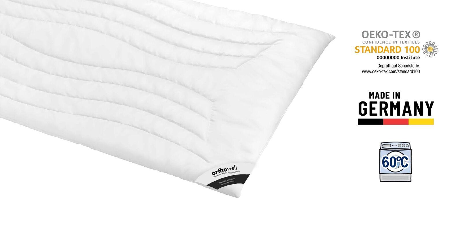 Markenfaser-Bettdecke orthowell Superior normal Öko-Tex zertifiziert