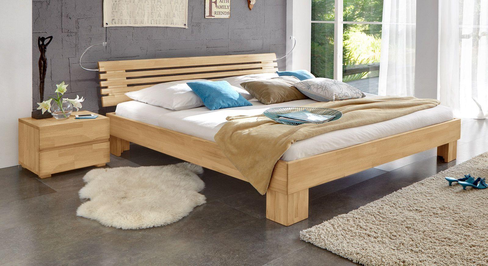 Massivholzbett Wood Romance in Buche 20cm