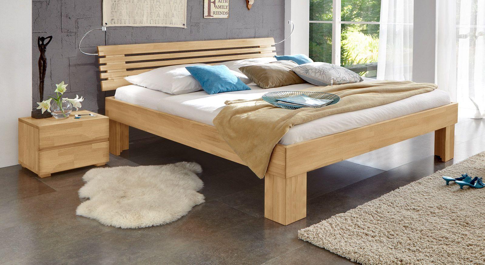 Massivholzbett Wood Romance in Buche 30 cm