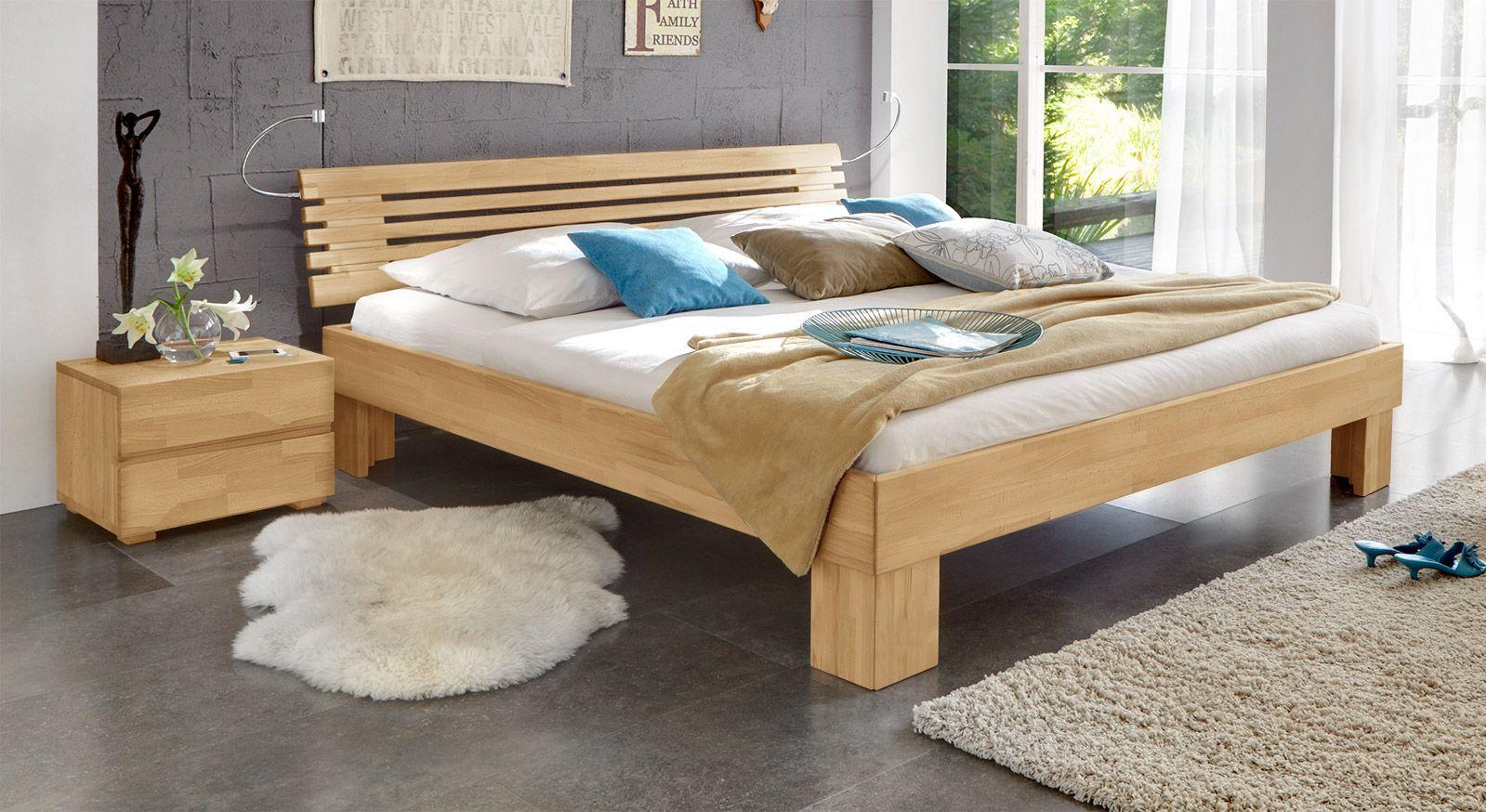 Massivholzbett Wood Romance in Buche 25cm.