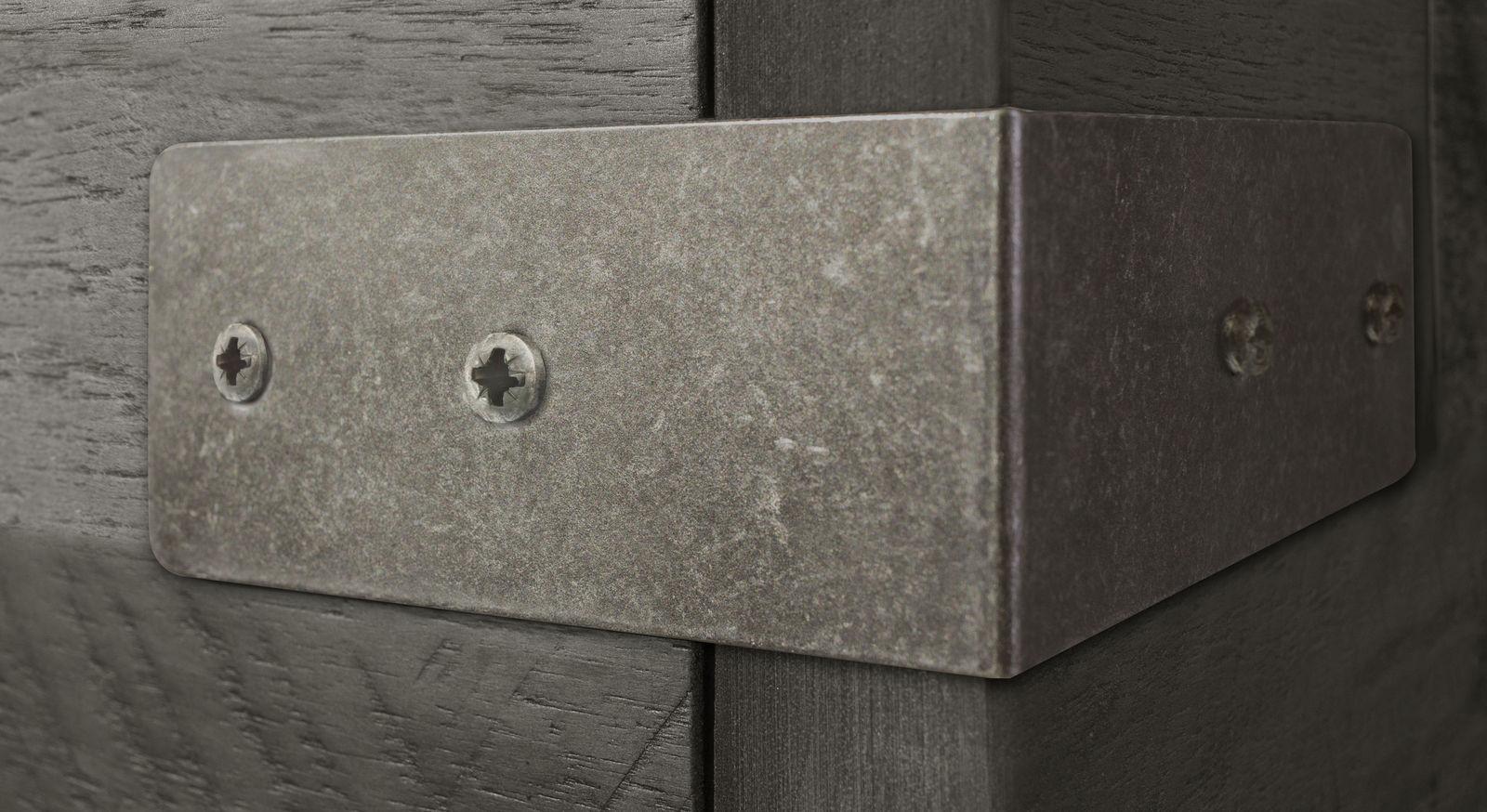 Geätzte Metallbeschläge für Akazienbetten