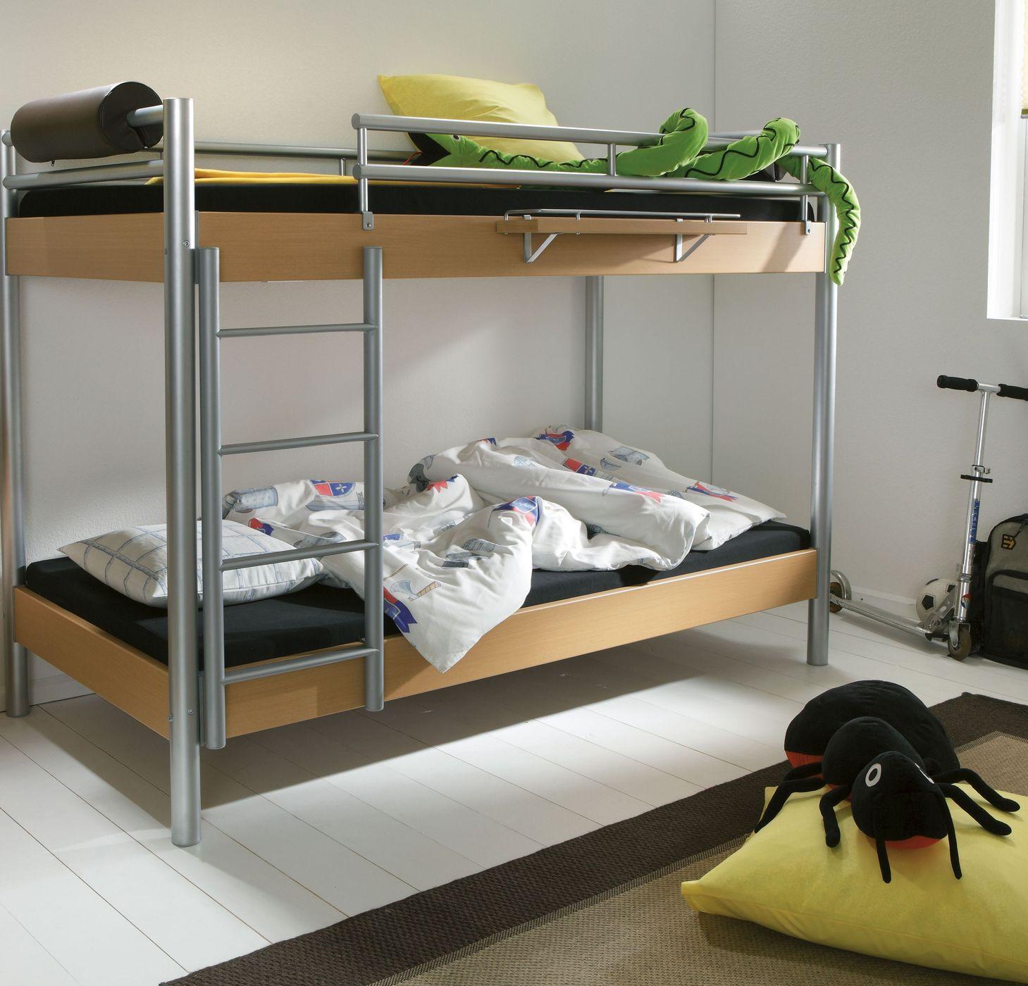 robustes midi etagenbett mit leiter und t v gepr ft jona. Black Bedroom Furniture Sets. Home Design Ideas