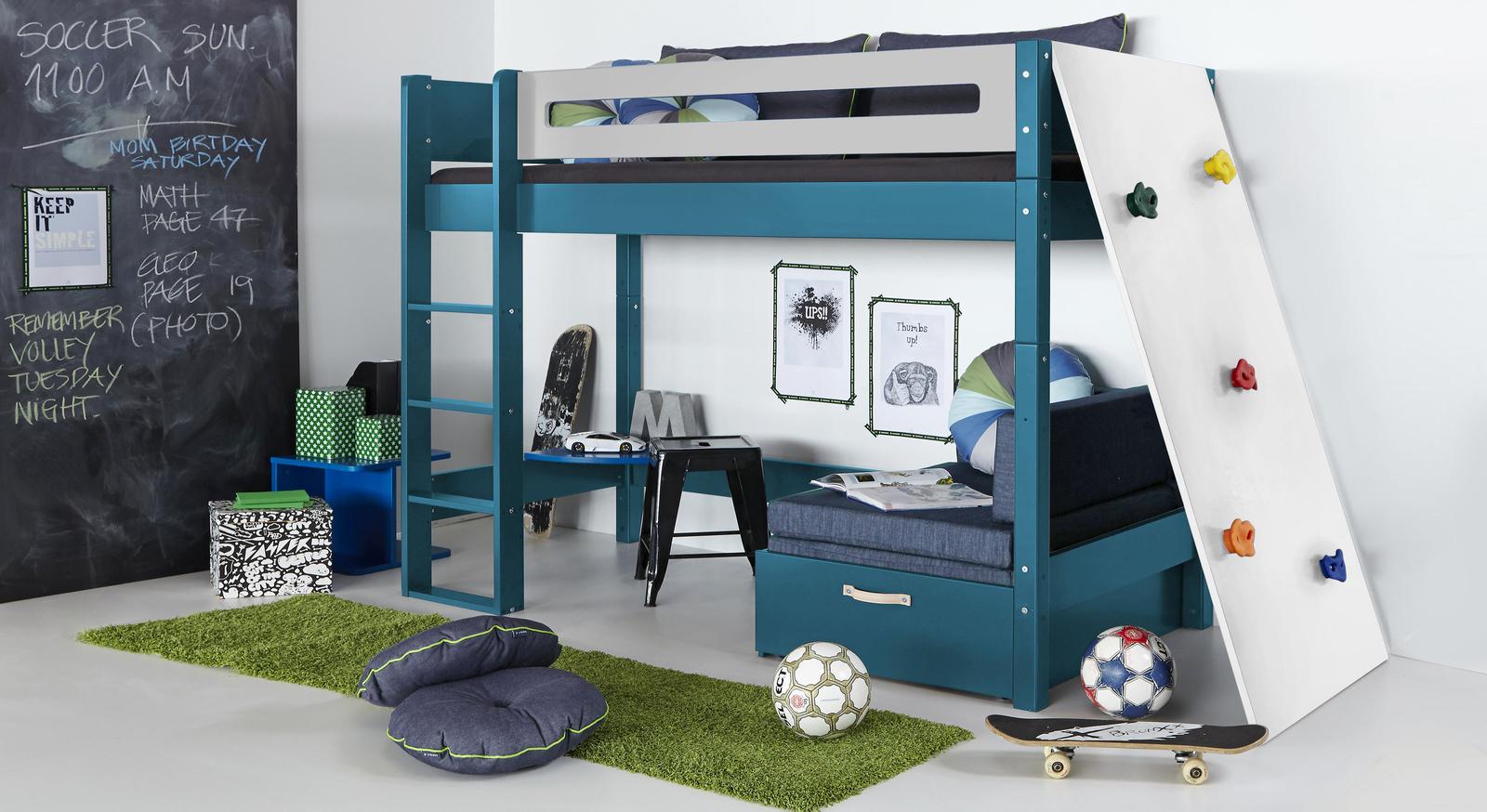 Passende Produkte zum Midi-Hochbett Kids Town Color mit Kletterwand