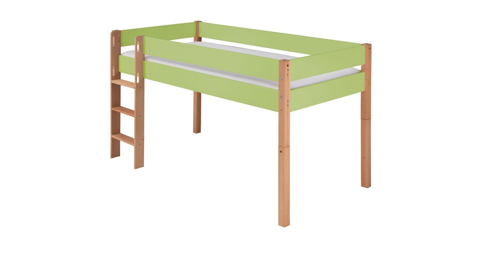 Zweifarbiges Mini-Hochbett Kids Nordic in Grün