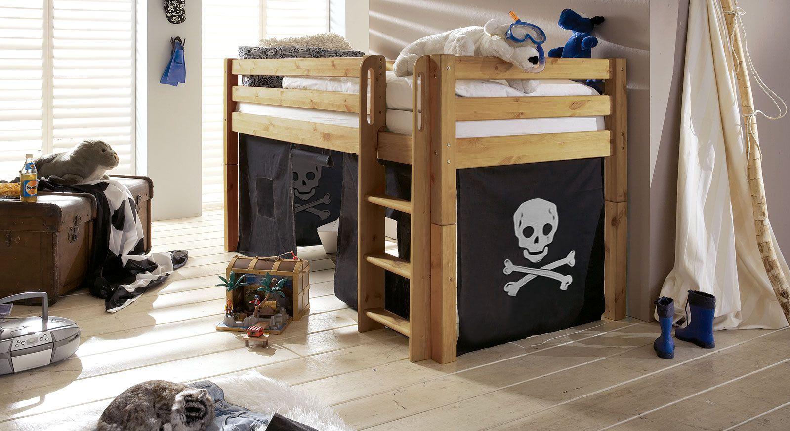 Mini-Hochbett Kids Paradise Piraten-Spielvorhang