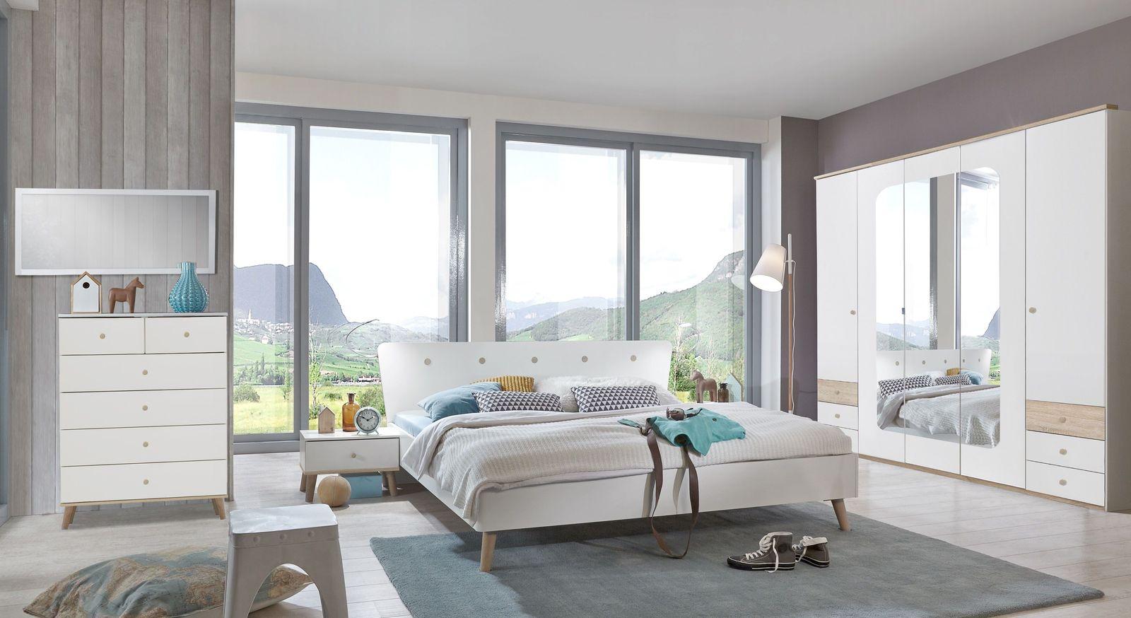 Modernes Möbel-Sortiment Corvara in Alpinweiß