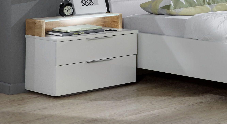 Moderner Nachttisch Bellegra aus weißem Dekor