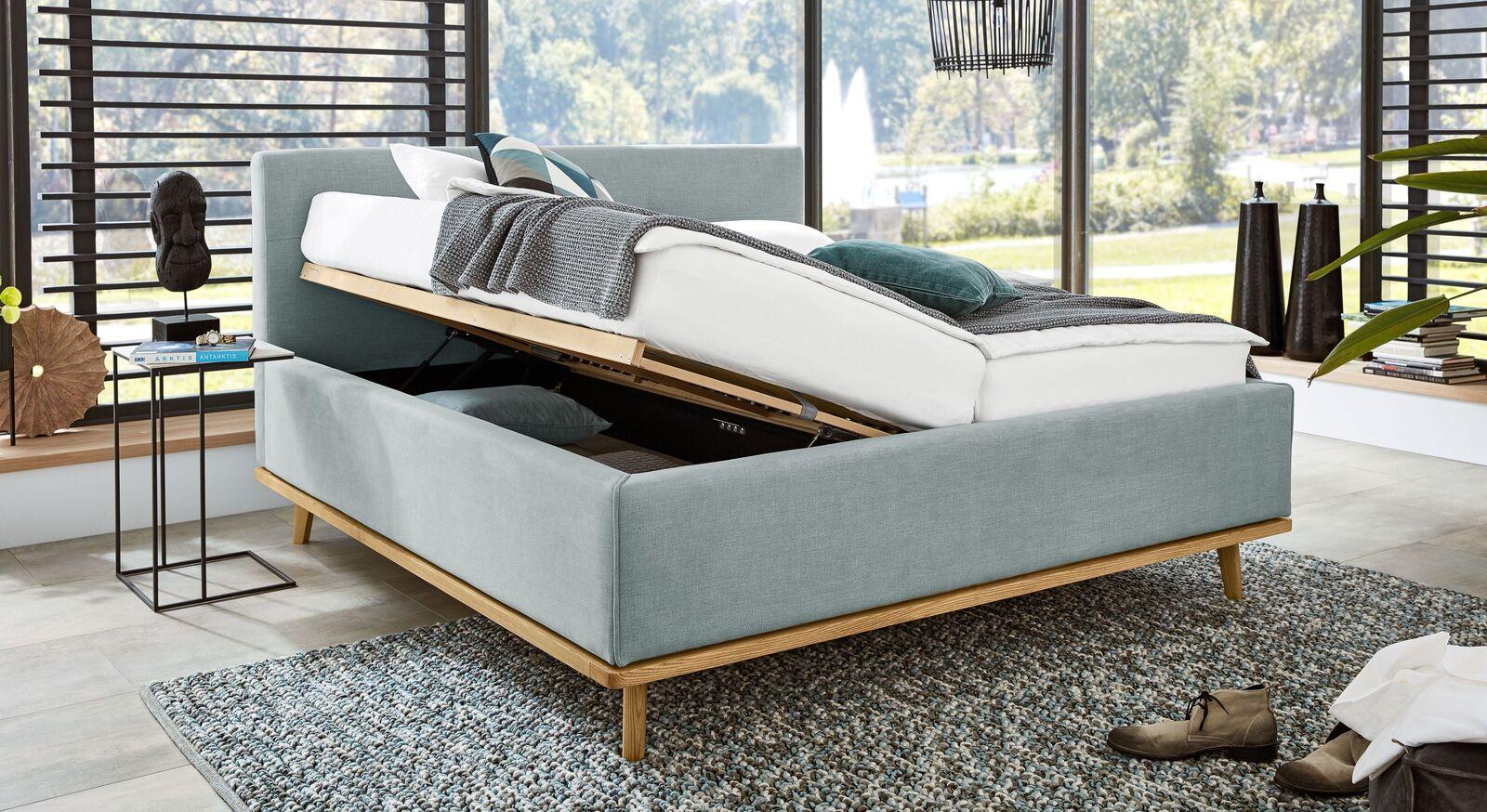 MUSTERRING Polsterbett Delphi Variante A mit praktischem Bettkasten