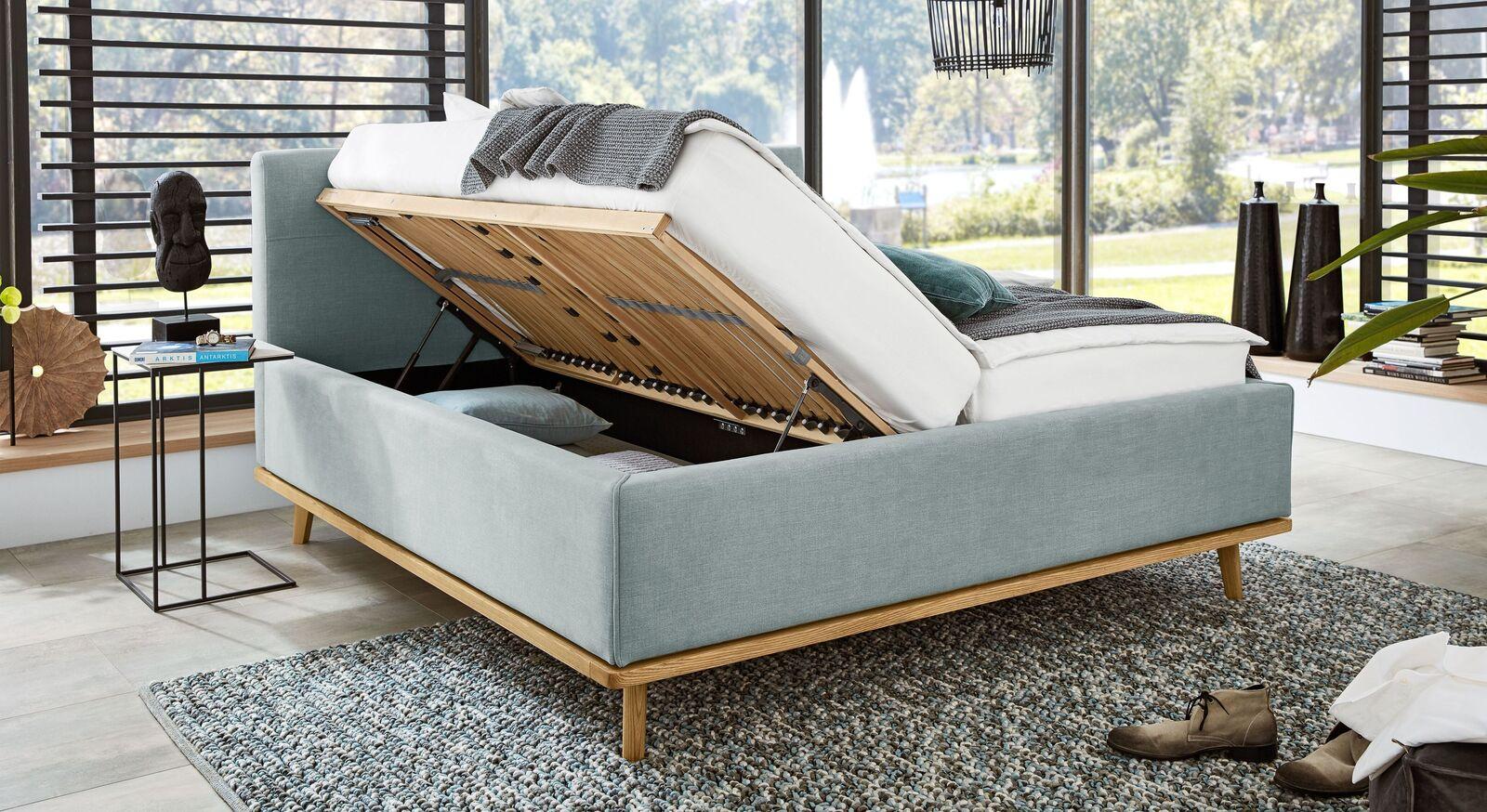 MUSTERRING Polsterbett Delphi Variante A mit Stauraum fürs Schlafzimmer