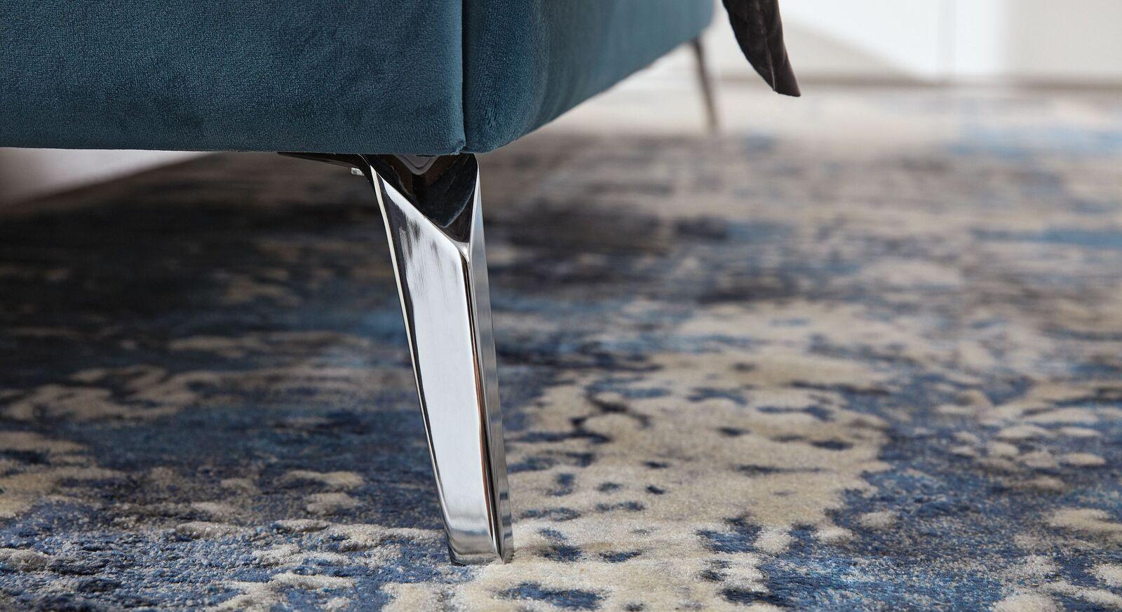 MUSTERRING Bett Epos mit geradlinigem Kopfteil und verchromten Metallfüßen
