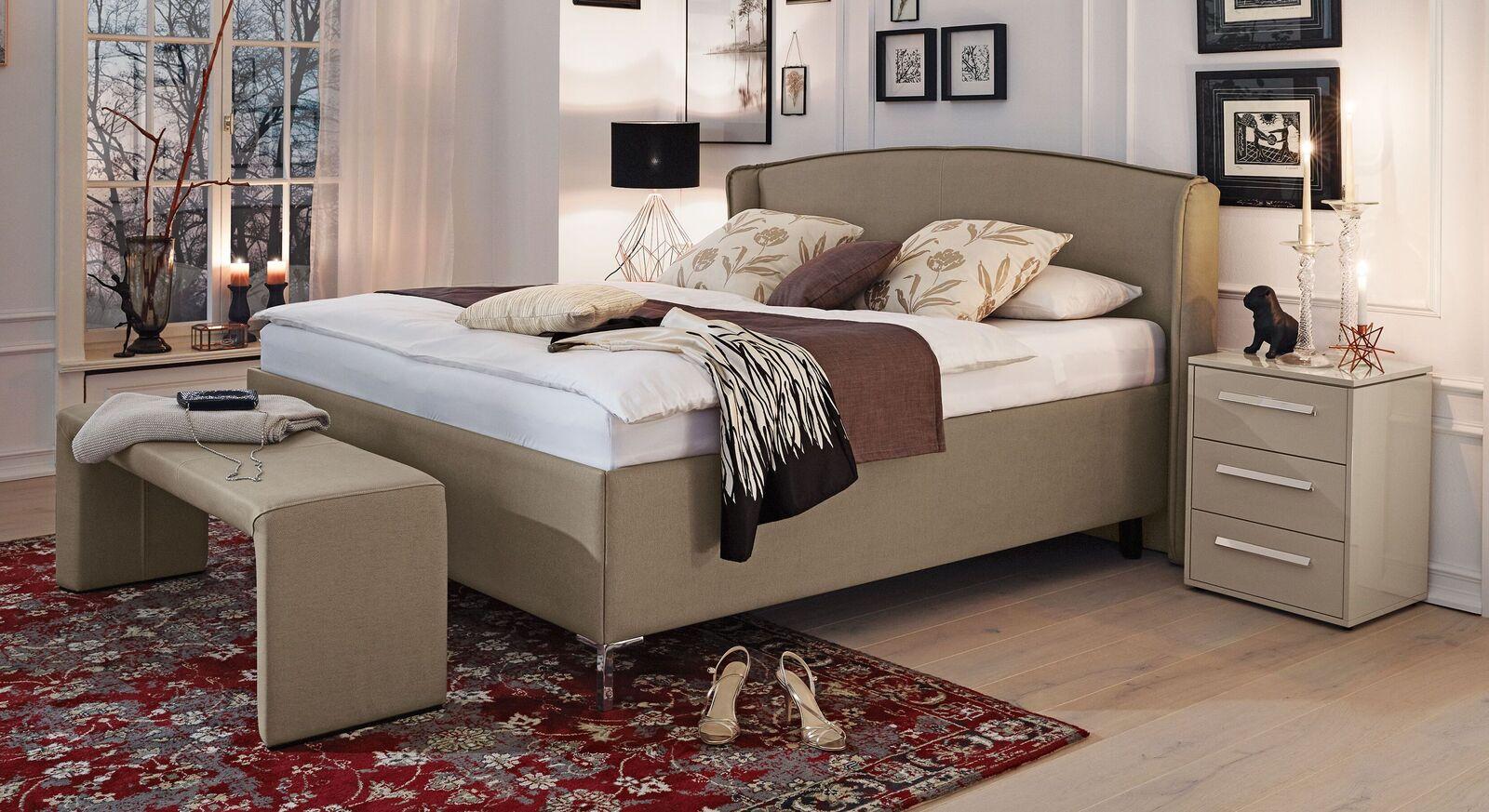 MUSTERRING Bett Epos mit Seitenwangen in Komforthöhe
