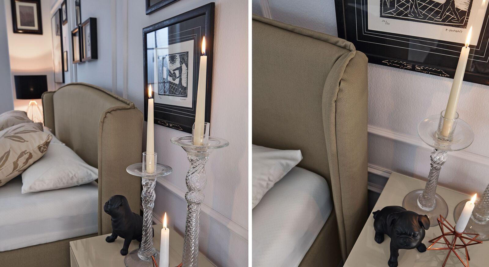 MUSTERRING Bett Epos mit Seitenwangen mit hochwertigem Kopfteil