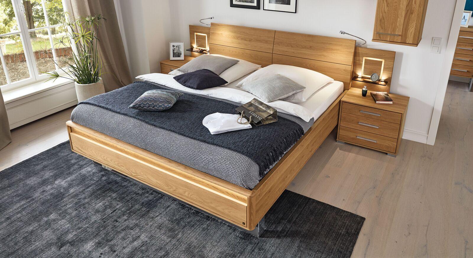 MUSTERRING Bett Samoa mit Chromkufe in Doppelbett-Größe
