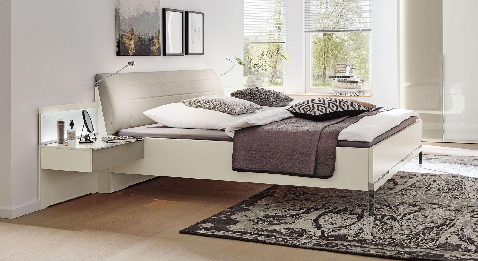 MUSTERRING Bett San Diego Weiß in Doppelbett-Größe