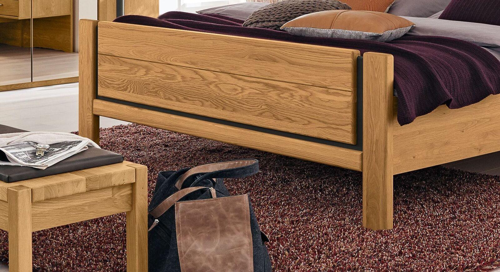 MUSTERRING Bett Sorrent mit attraktivem Fußteil